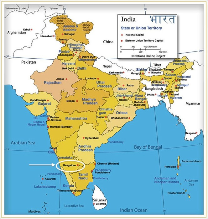 Gover Vineyard map of India states