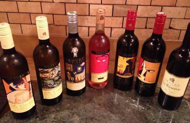 Gover Vineyard tasting selection