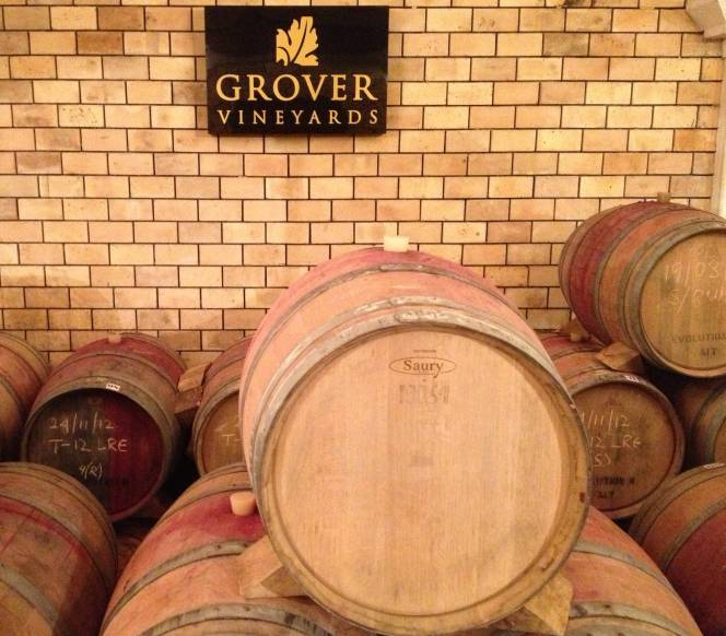 Gover Vineyards barrel room
