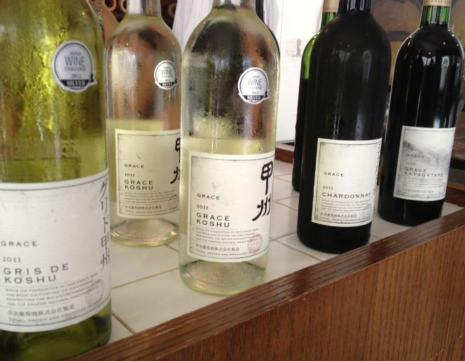 Grace Wines tasting selection