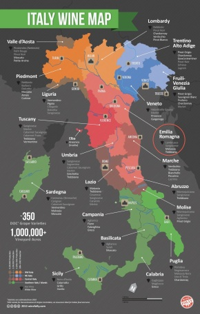 Italy Wine Map Wine Folly