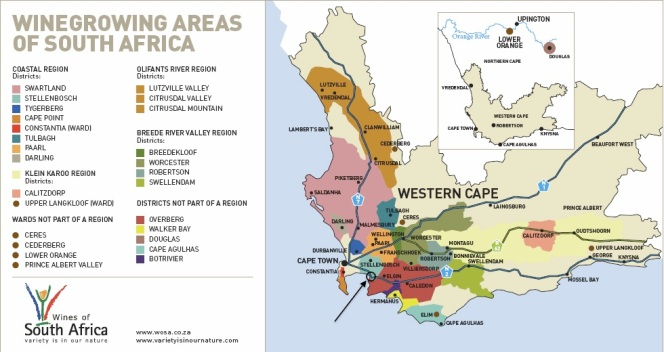 South Africa Wine Regions