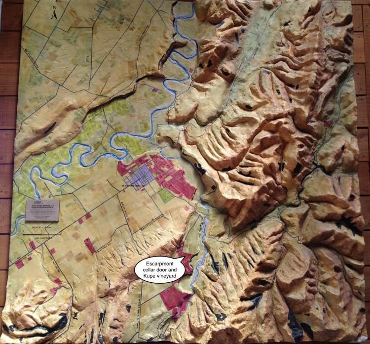 Escarpment Wine Centre Map annotated
