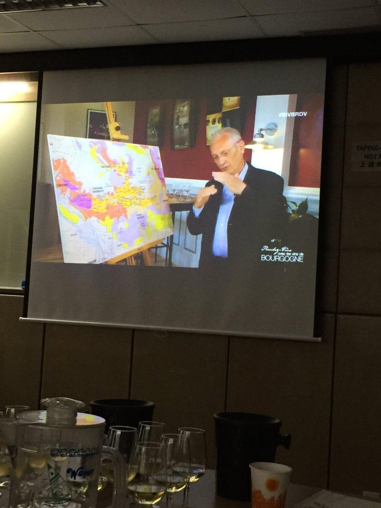 BIVB Chardonnay JP discussing map