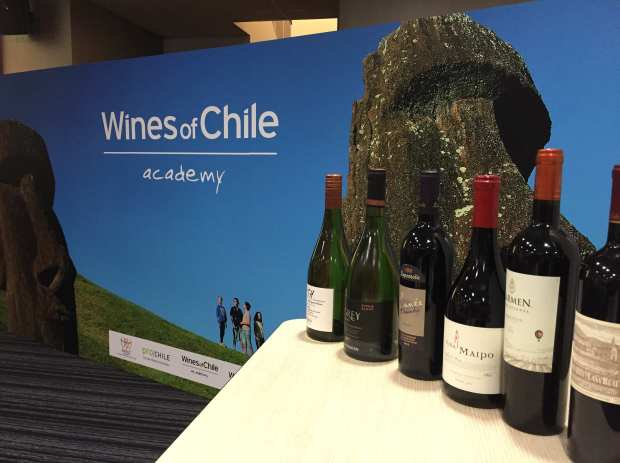 WoCA banner and wines