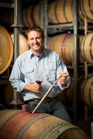Yangarra Winemaker Peter Fraser in barrel room tall copy