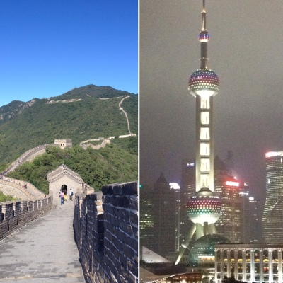 Beijing and Shanghai