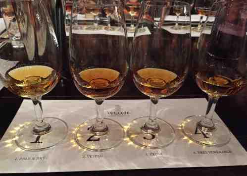 Delamain Cognac - tasting line-up