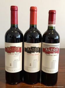 Three Malbec from Altos Las Hormigas