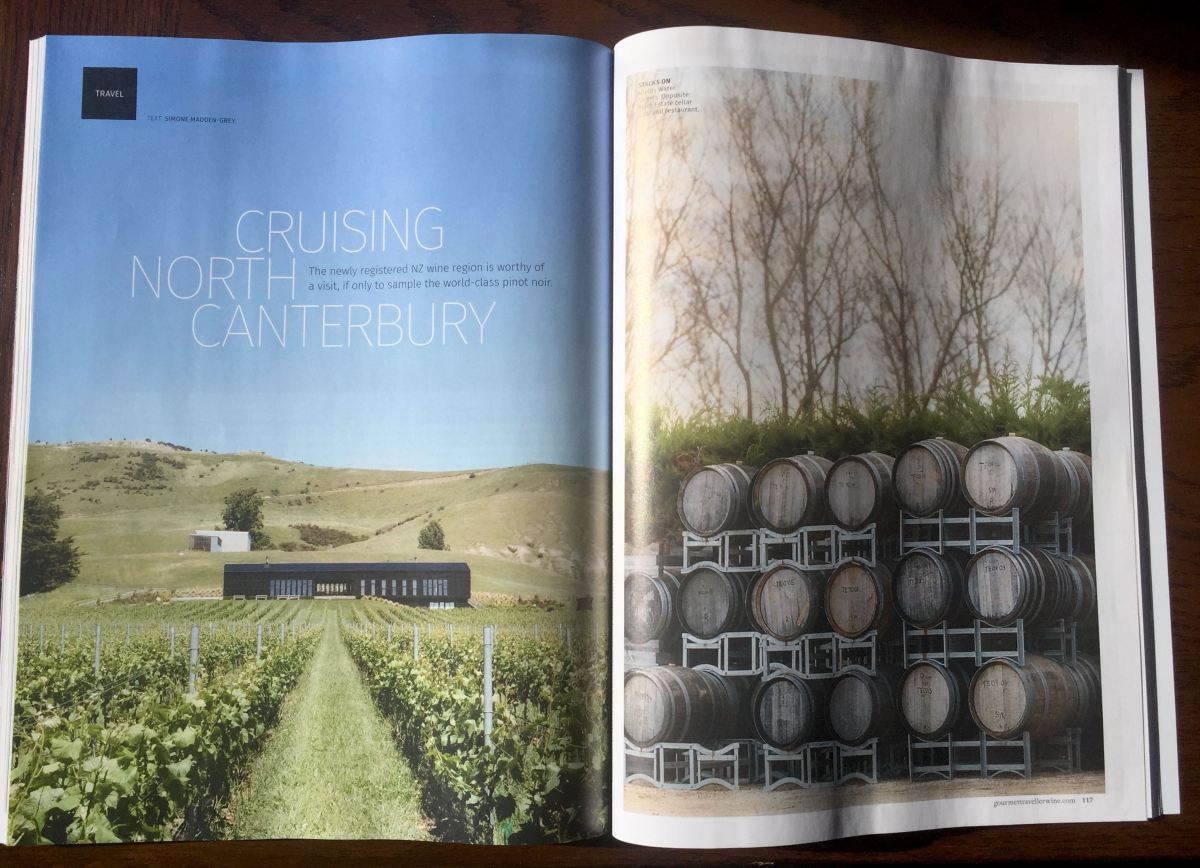 Gourmet Traveller WINE - Cruising North Canterbury